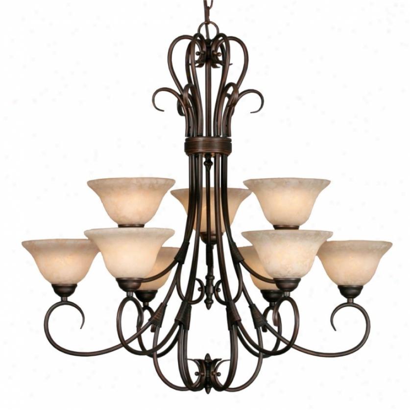 8606-9rbz - Golden Lighting - 8606-9rbz > Chandeliers