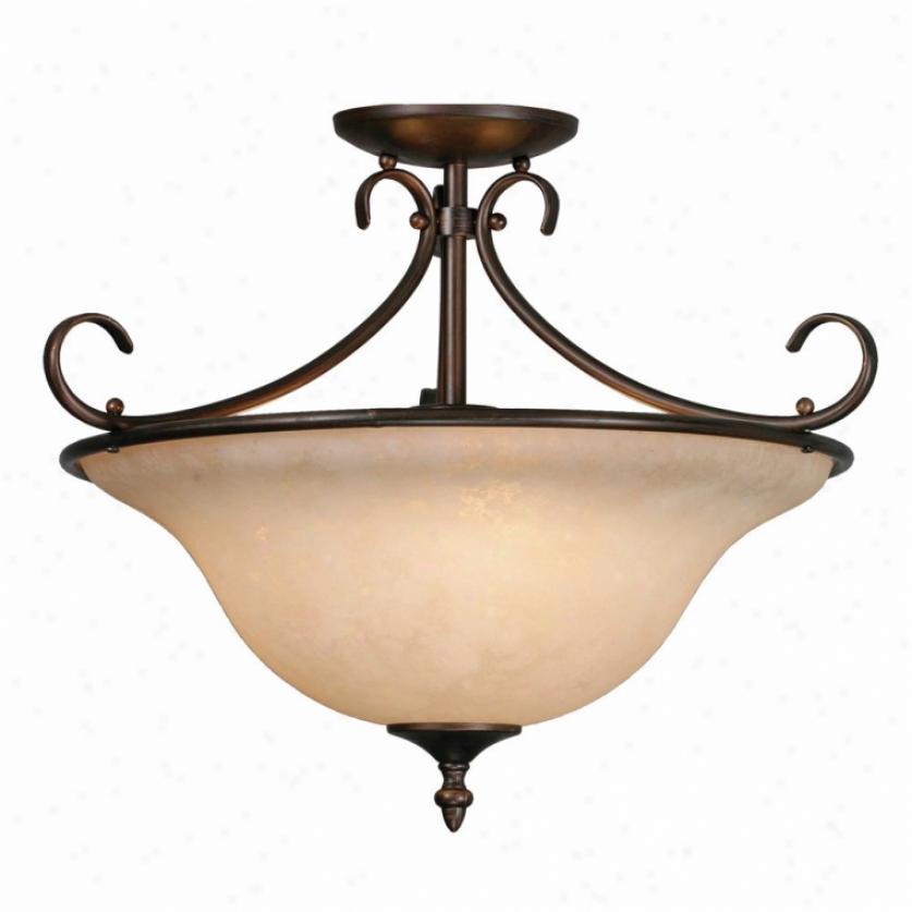 8606-sfrbz - Golden Lighting - 8606-sfrbz > Semi Flush Mount
