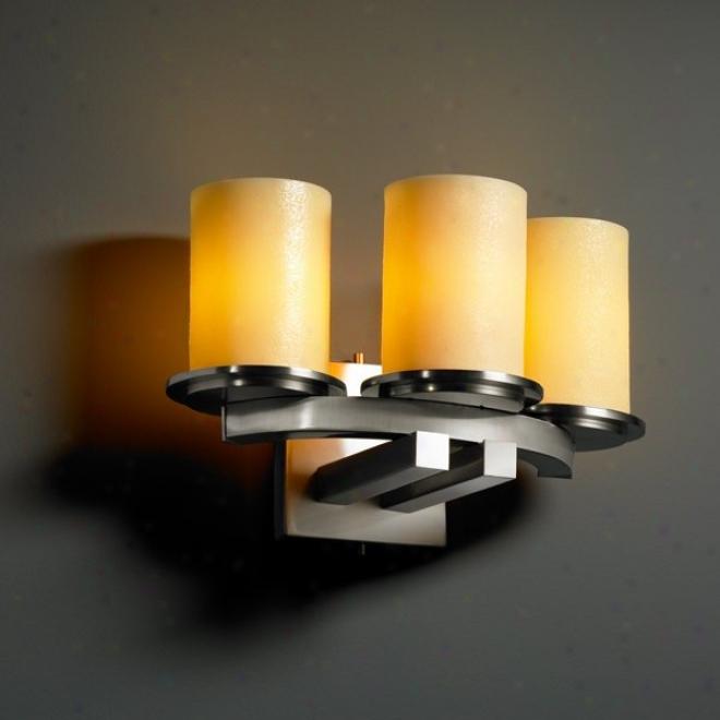 Cndl-8776-10-ambr-nckl - Justice Design - Cndl-8776-10-ambr-mckl > Wall Sconces