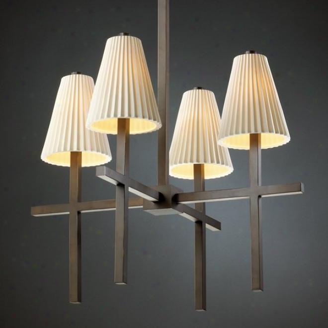Por -8950-50-plet-dbrz - Judge Design - Linear 4-light Chandelier