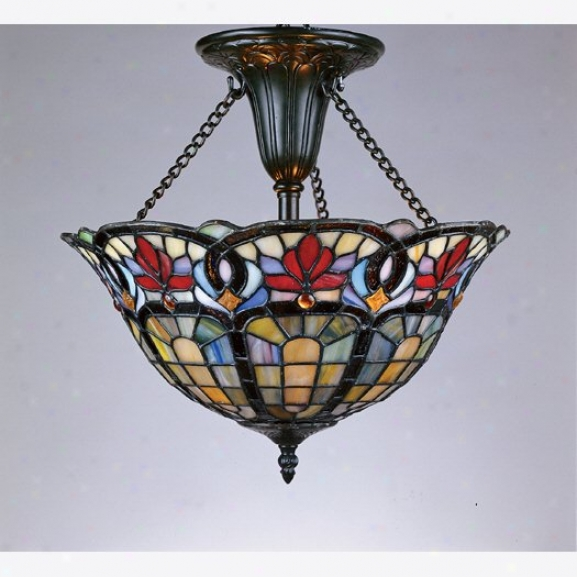Tf1796vb - Quoizel - Tf1796vb > Tiffany Style Semi Flush Mount