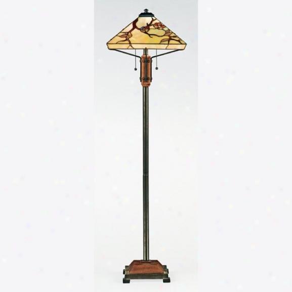 Tf9404m - Quoizel - Tf9404m > Tiffany Style Floor Lamps