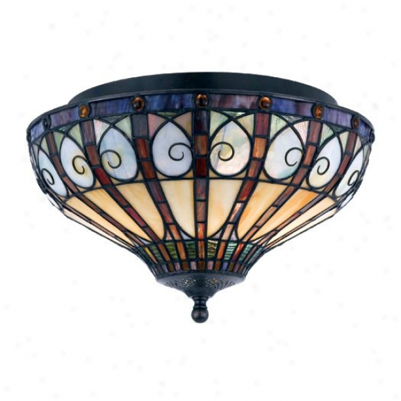 Tfav1714vb - Quoizel - Tfav1714vb > Tiffany Style Flush Mount
