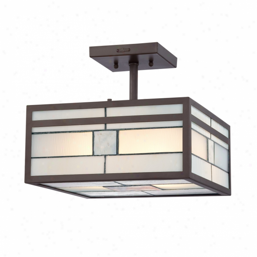 Tffn1712wt - Quoizel - Tffn1712wt > Tiffany Style Semi Flush Tower