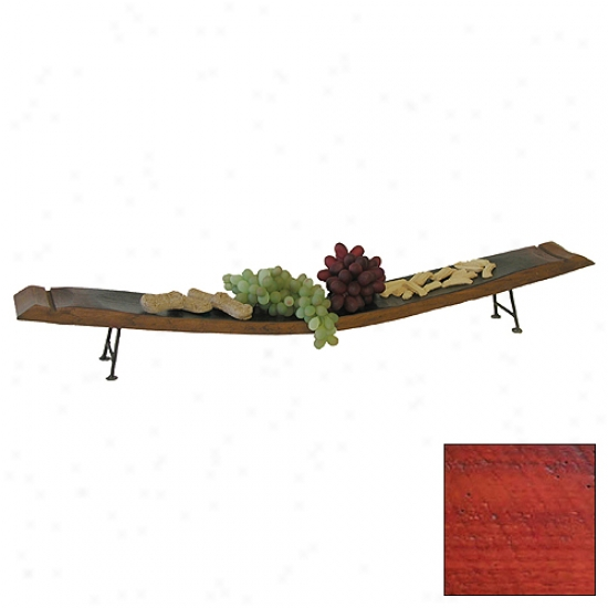 2 Day Designs Wine Stave Server With Iron Feet