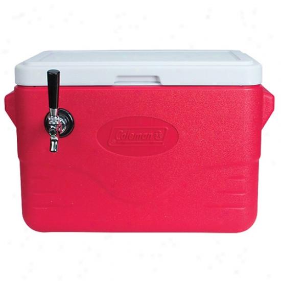 28 Quart 1 Faucet Red Jockey Box Make ~s Cooler