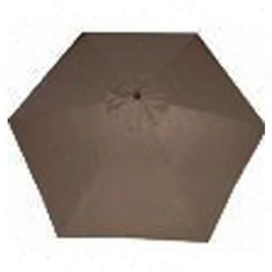 9' X 8' Market Umbrella - Chocolate Brown