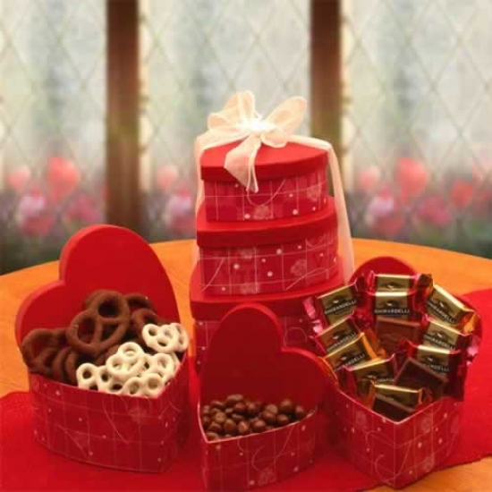 A Love Affair W/ Chocolate Tower Gift Basket