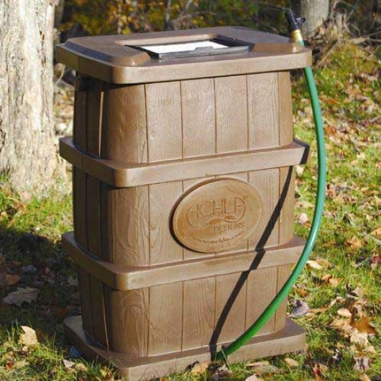 Achla 50 Gallon Rain Catcher Wood Grain