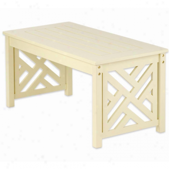 Achla Ivory FretworkC offee Table
