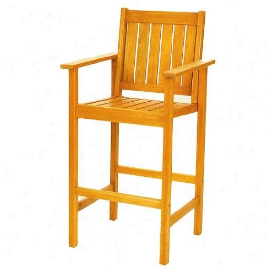 Achla Natural Bar Chair