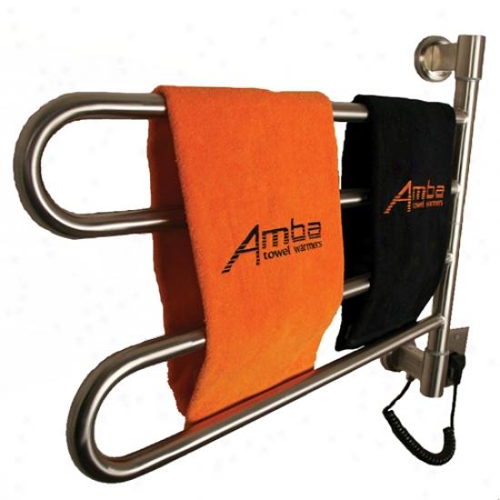 Amba Swivel Mounted Towel Warmer W/ 2 Bars