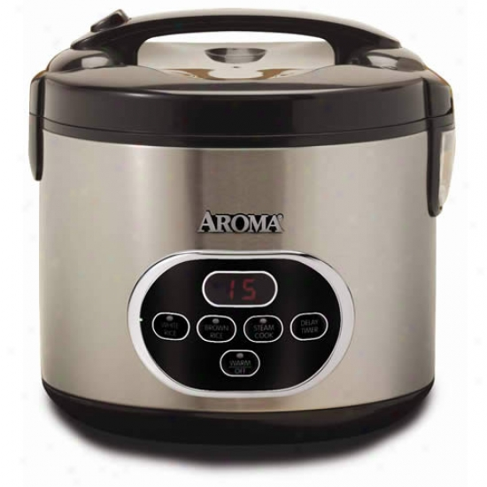 Aroma 10-cup Rice Cooker And Steamer