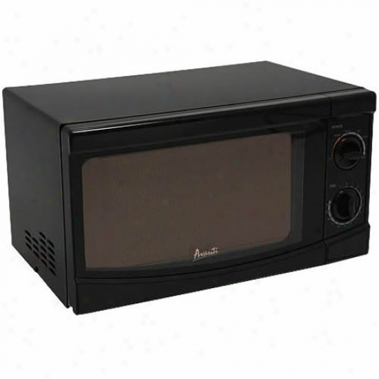 Avanti 0.7 Cubic Foot Black Rotary Control Microwave
