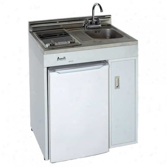 Avanti Mini Kitchen: Avanti 30 Compact Kitchen W/ 2 Burner Radiant Top @ @ The