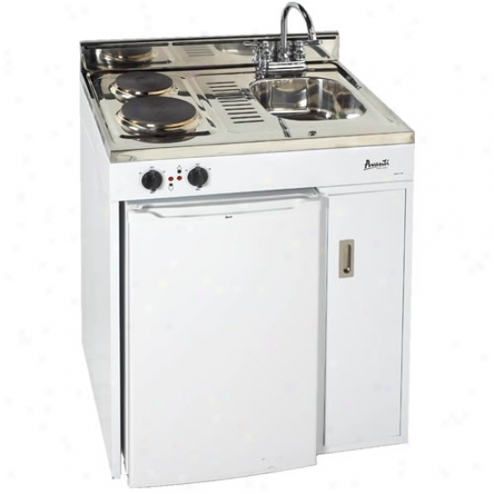 Avanti 30 Inch Complete C0mpact Kitchen With Rerfigerator