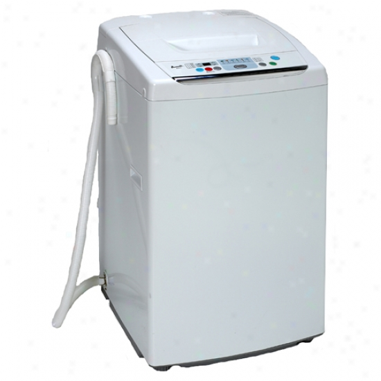 Avanti White 9 Lb Top Load Fully Automatic Portable Washing Machine The Home Flooring Dot Com