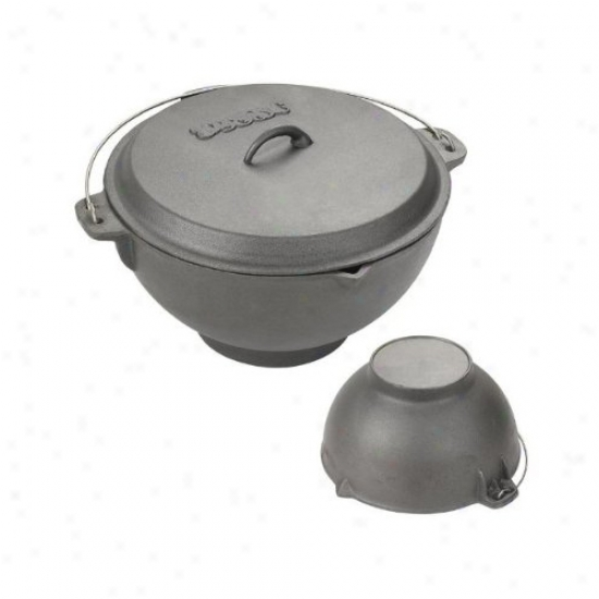 Bayou Classic 2.75 Gallon Cast Iron Jambalaya Pot And Deep Fryer