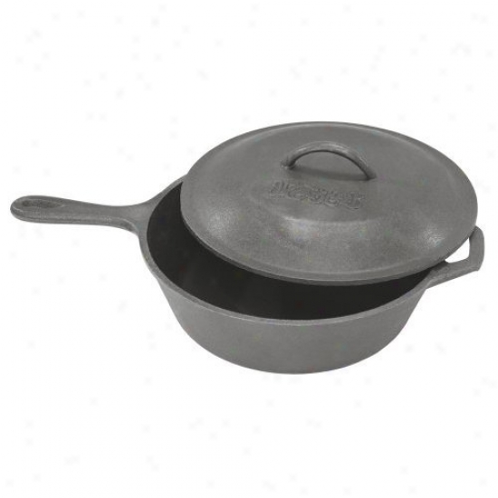 Bayou Classic 3 Quart Covered Cast Iron Skillet