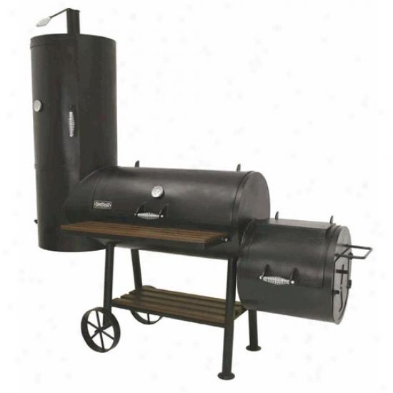 Bayou Classic Vertical Smoker Grill W/ Firebox - Black