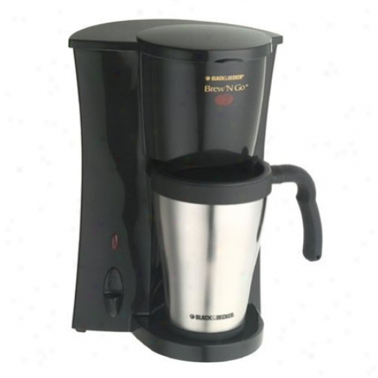 Black And Decker Brew 'n Go Personal Coffeemaker With Travel Mug