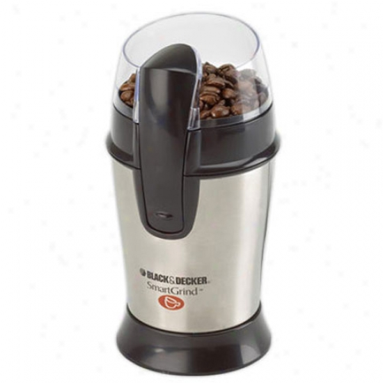 Black And Decker Smartgrind Coffee Grinder - Stainless Steel