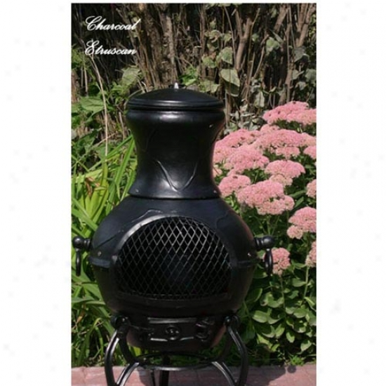 Blue Rooster Etruscan Cast Aluminum Chiminea
