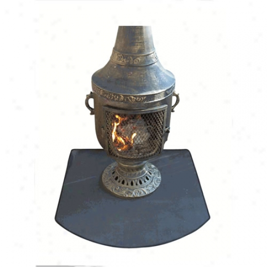 Blue Rooster Flexible Fire Resistwnt Chiminea Pad - Half Round