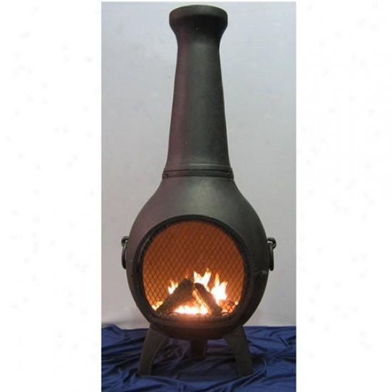 Blue Rooster Prairie Cast Aluminum Chiminea