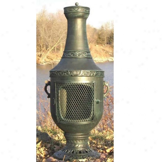 Blue Rooster Venetian Cast Aluminum Gas Chiminea