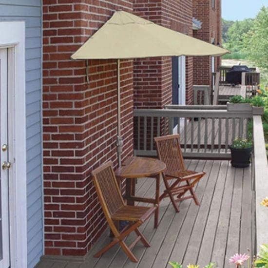 Blue Star Group Terrace Mates Bistro Standard 9 Ft. Sunbrella Set