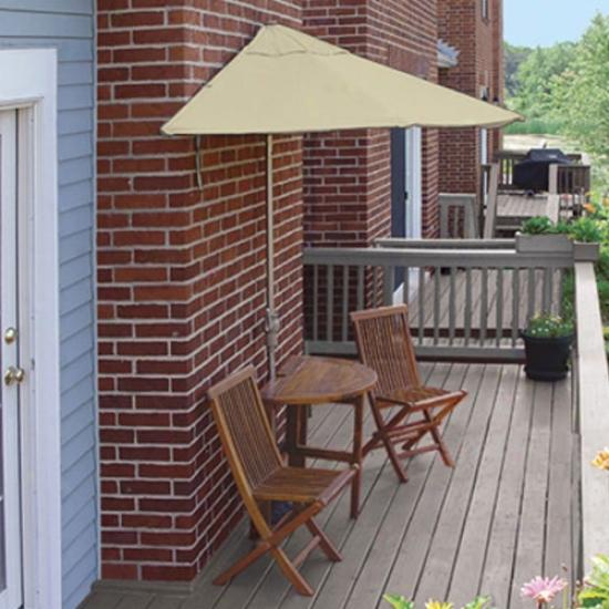 Blue Star Group Terrace Mates Caleo Deluxe 7.5 Ft. Sunbrella Set