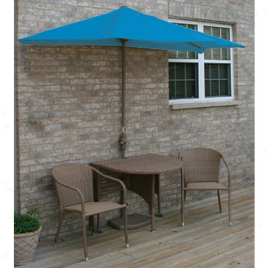 Pedantic  Star Group Terrace Mates Genevieve All-weather Coffee Color Wicker 9 Ft. Olefin Set