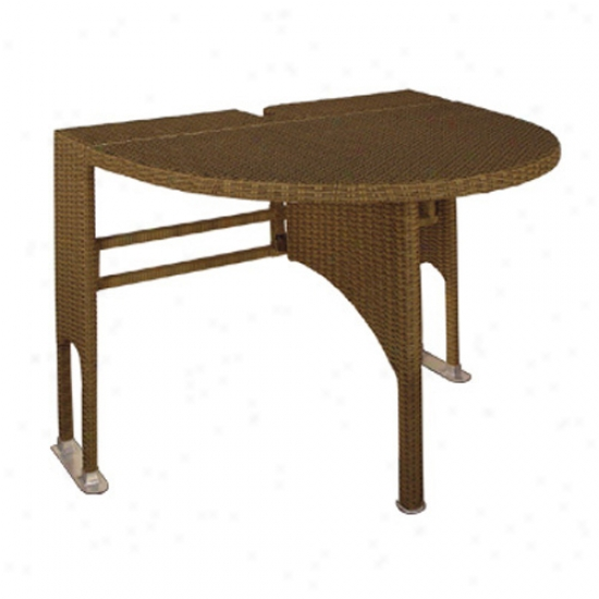 Blue Star Group Terrace Mates Genevieve Half-oval Table
