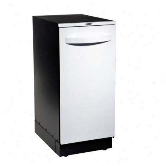 Broan elite 15 inch trash compactor with white door for 15 inch door