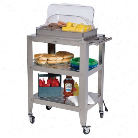 Broil King Double Buffet Warming Cart With Rolltop Lid