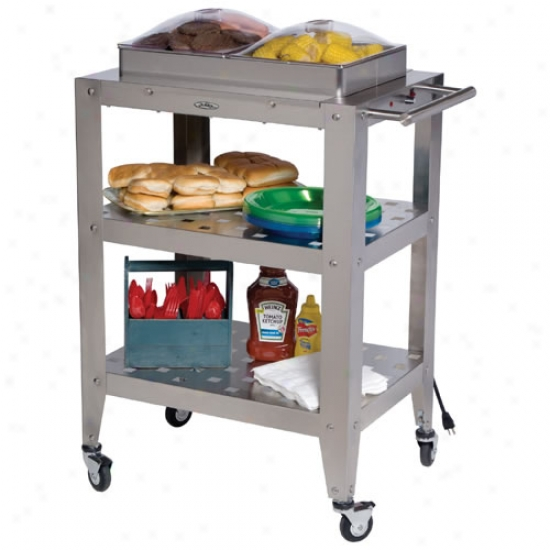 Broil King Double Buffet Warming Cart With Two Individual Lids