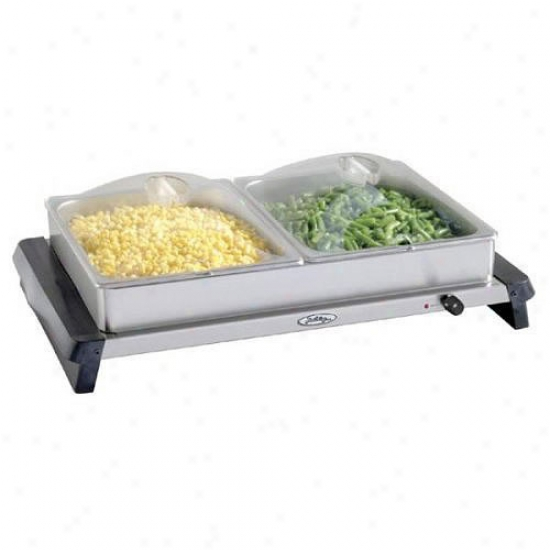 Broil King Pro Double Buffet Server - Stainless Steel