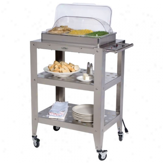 Broil King Triple Buffet Warming Cart With Rolltop Lid
