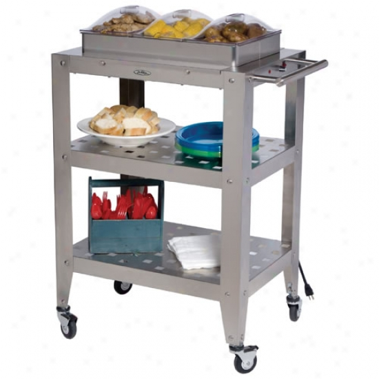 Broil King Triple Buffet Warming Cart With Three Individual Lids