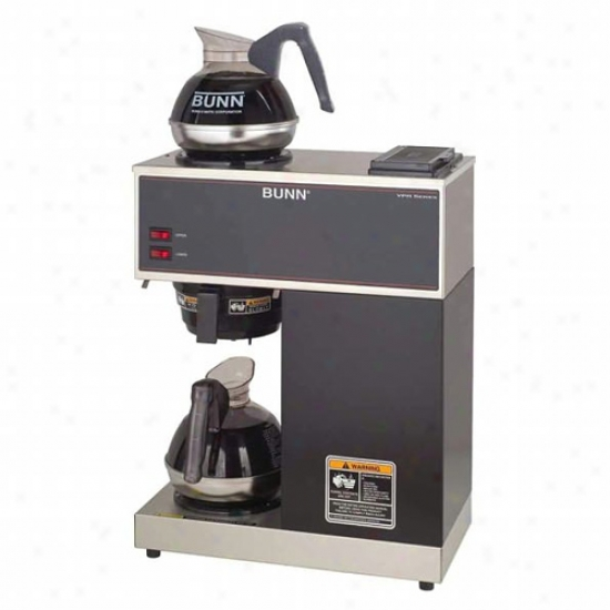 Bunn 12 Cup Pourover Commercial Coffe Brewer With 2 Warmers