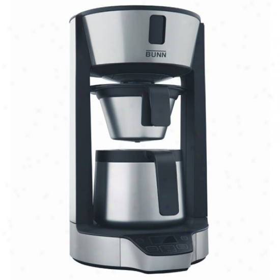 Bunn Phase Brew 8 Cup High Altitude Thermal Carafe Home Coffee Brewer