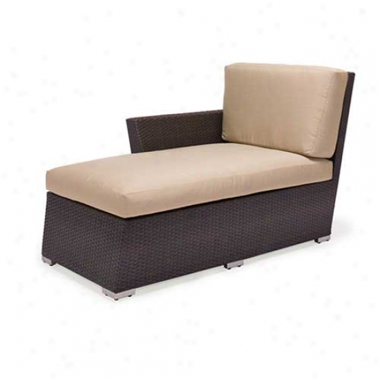 Caluco Maxime Outdoor Wicker Single Right Chaise Lounge Chair