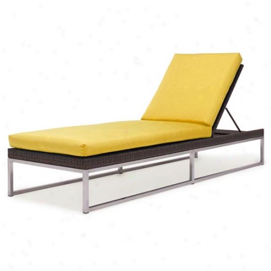 Caluco Mirabellaa Sunbrella Single Chaise Lounge Cushions -  Buttercup