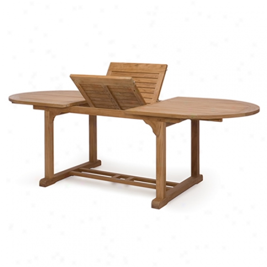 Caluco Teak 72  To 96  Oval Expansion Table