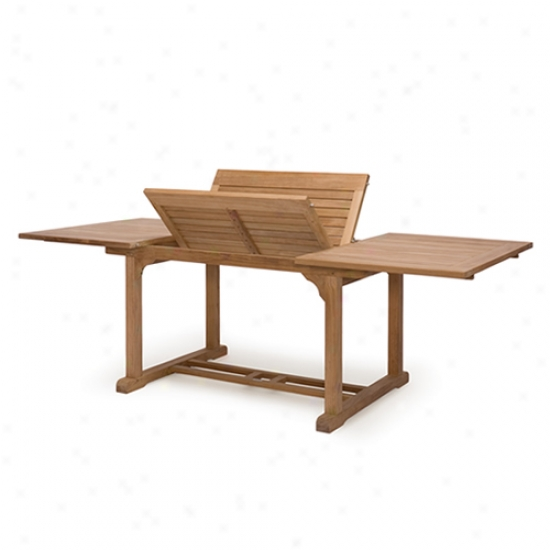 Caluco Teak 72  To 96  Rectangular Extension Table