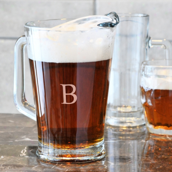 Cthy's Concepts Glass Pitcher With Initial