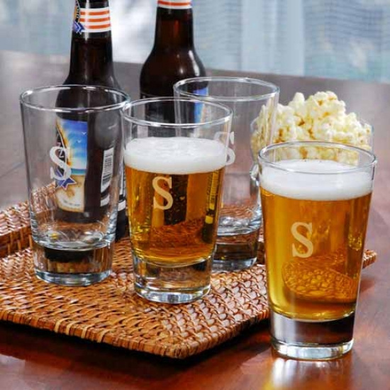 Cathy's Concepts Personalized Pint Glasses (set Of 4) -  C