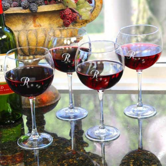 Cathy's Concepts Red Wine Glasses (set Of 4) - Blank