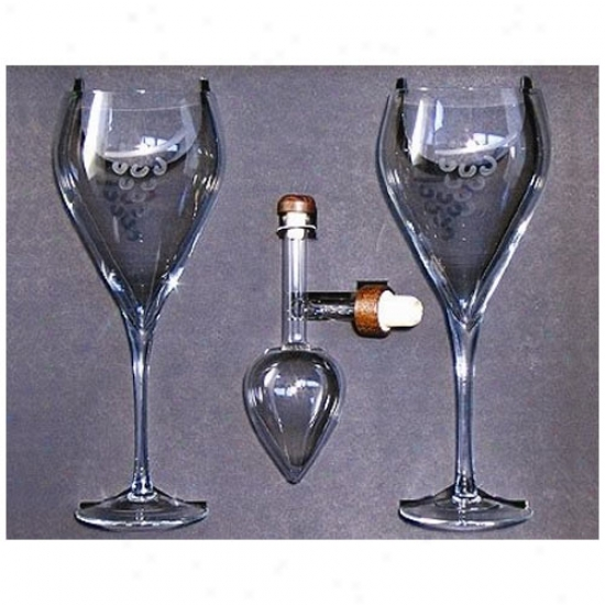 Centellino Donation Box - Decanter And Two Wine Goblets